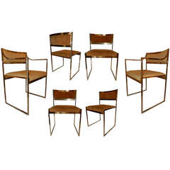 Set of Italian Ten Chairs and Two Armchairs by Maison Jansen