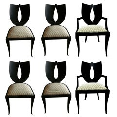 Set of 6 chairs (4 +2) by Pietro Constantini