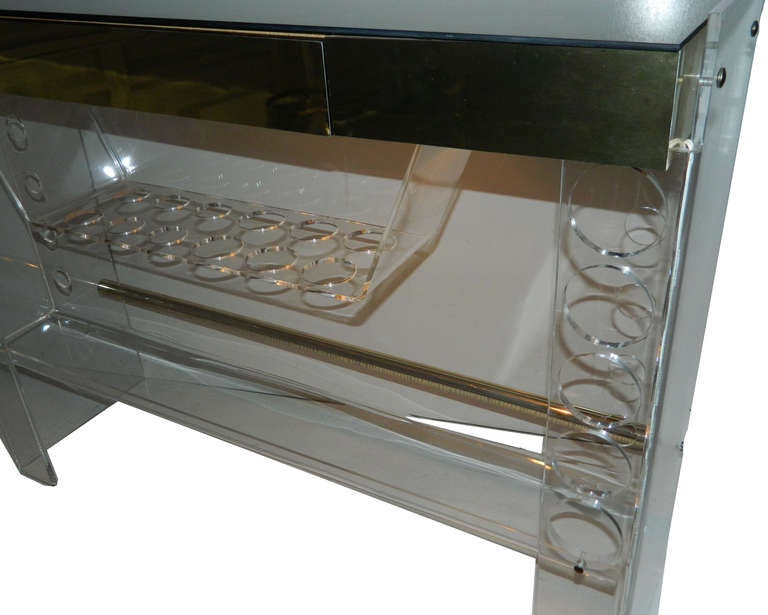 Late 20th Century Lucite Bar For Sale