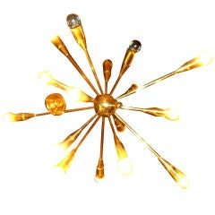Pair of Sixteen Lights Starburst Stilnovo Chandelier