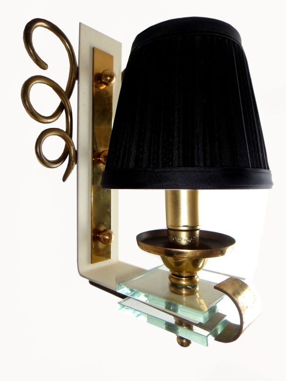 Pair of 1950 French Sconces For Sale 1