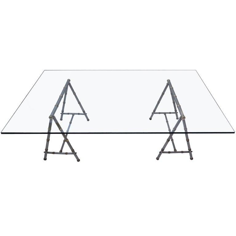 Maison Jansen Sawhorse Table