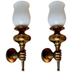 Pair of Arbus Sconces. 2 pairs available. Priced by pair