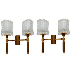 2 Pairs of French Mid-Century Modern Sconces available. Priced by Pair