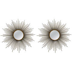 2 Pairs available of Chaty Sunburst Mirrors. priced by pair