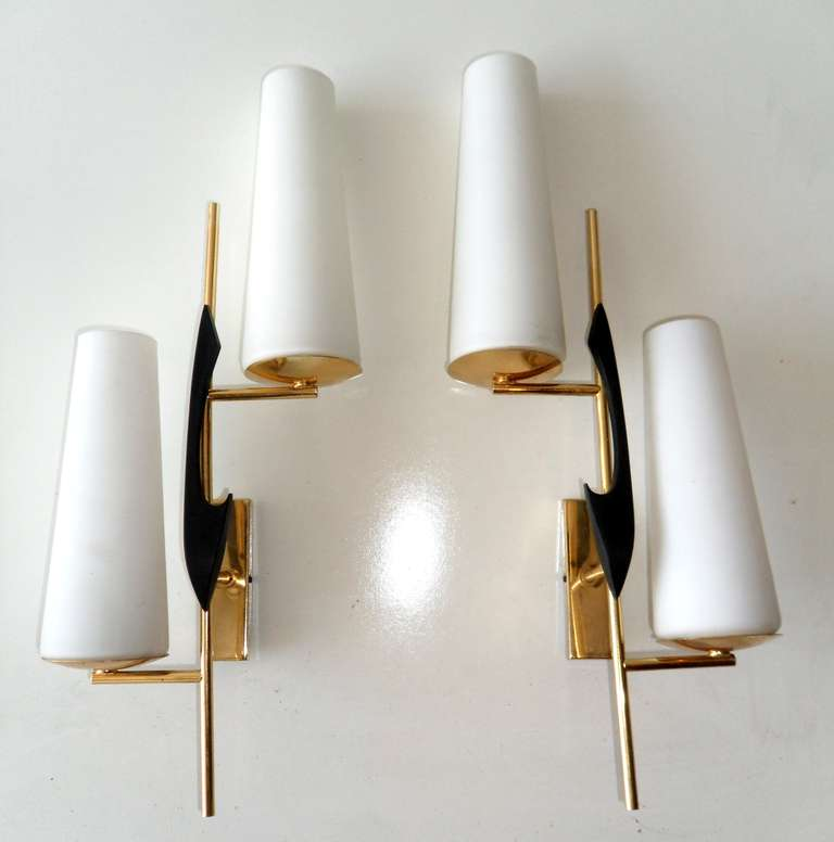Pair of French sconces.