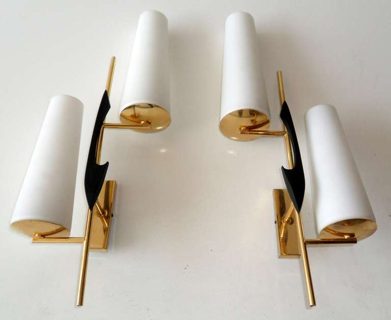 Pair of French Sconces by Maison Arlus In Excellent Condition For Sale In Miami, FL