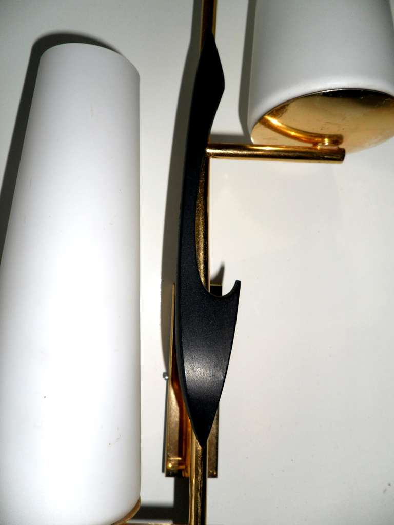20th Century Pair of French Sconces by Maison Arlus For Sale