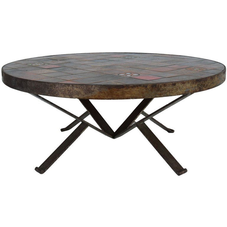 Roche bobois round coffee table at 1stdibs Roche bobois coffee table