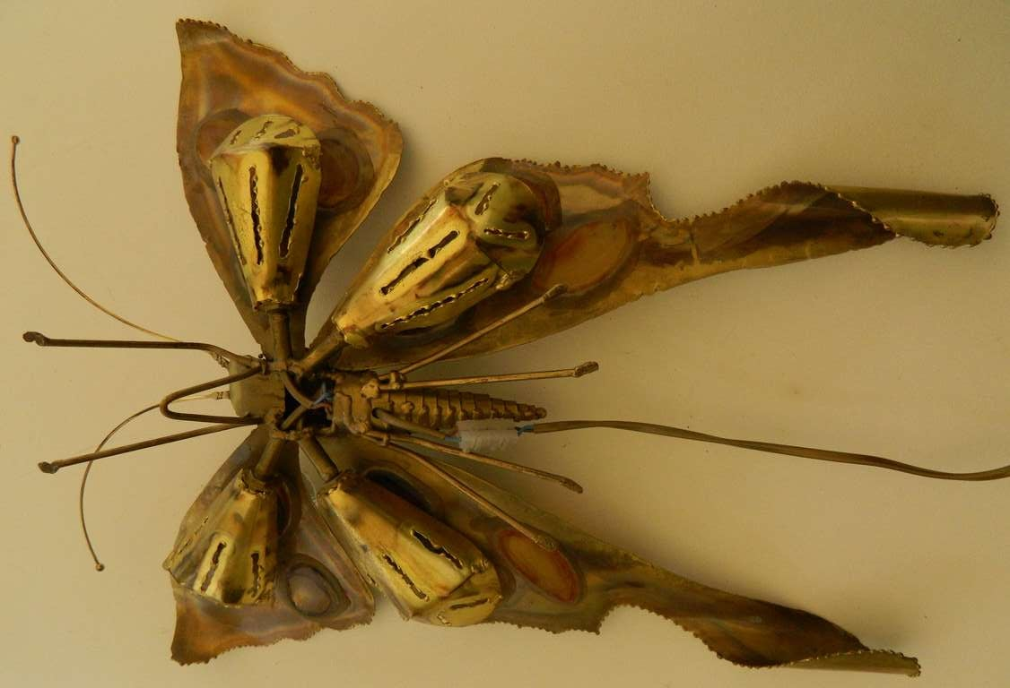 20th Century Bronze Butterfly Sculpture by Jacques Duval-Brasseur For Sale