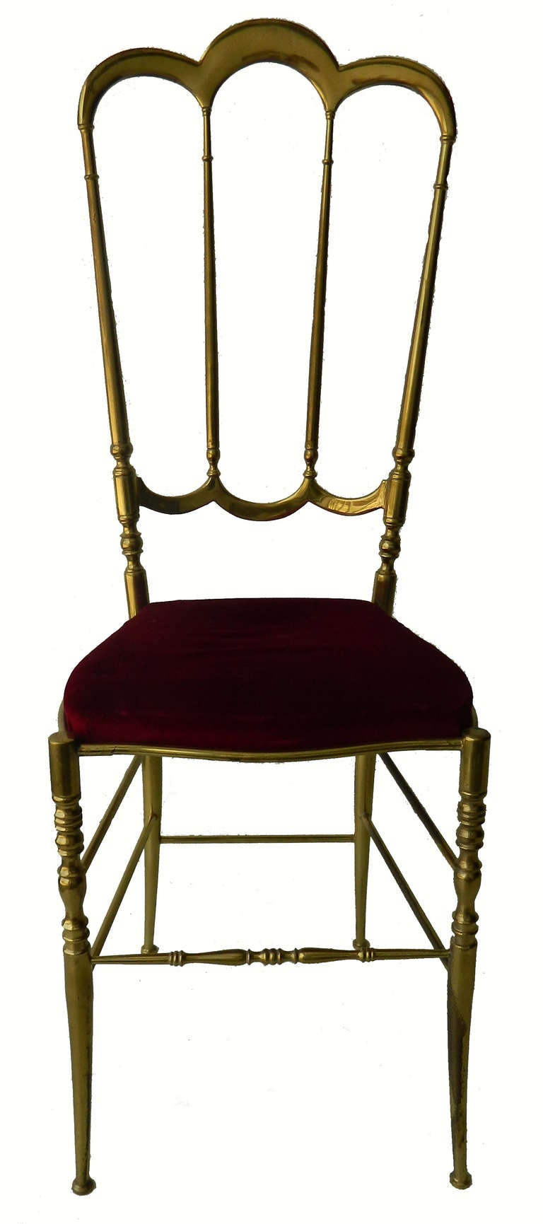 Italian Six Chiavari Brass Chairs