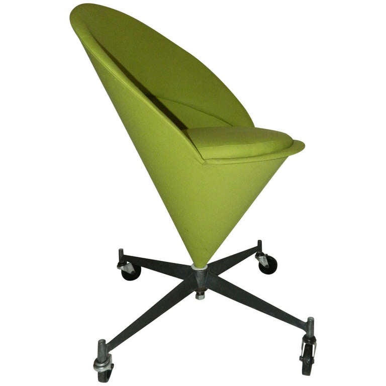 Vintage Cone Chair, Verner Panton Style For Sale