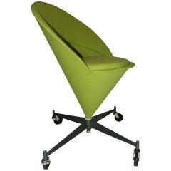 Vintage Cone Chair, Verner Panton Style