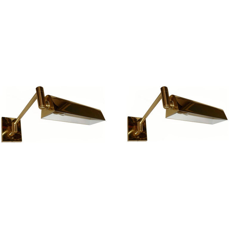 Wall Sconces Nyc: .Signed HANSEN LAMPS NEW YORK Pair Of Wall Sconces At 1stdibs