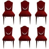 Set Of 6 Dining Room Chairs By Maison Gouffe Paris thumbnail 1