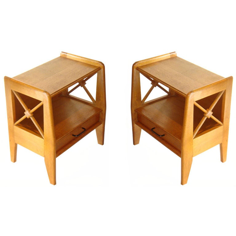 Jacques Adnet Pair of Side Tables