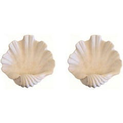 Serge Roche  Pair Of Shell Wall Sconces