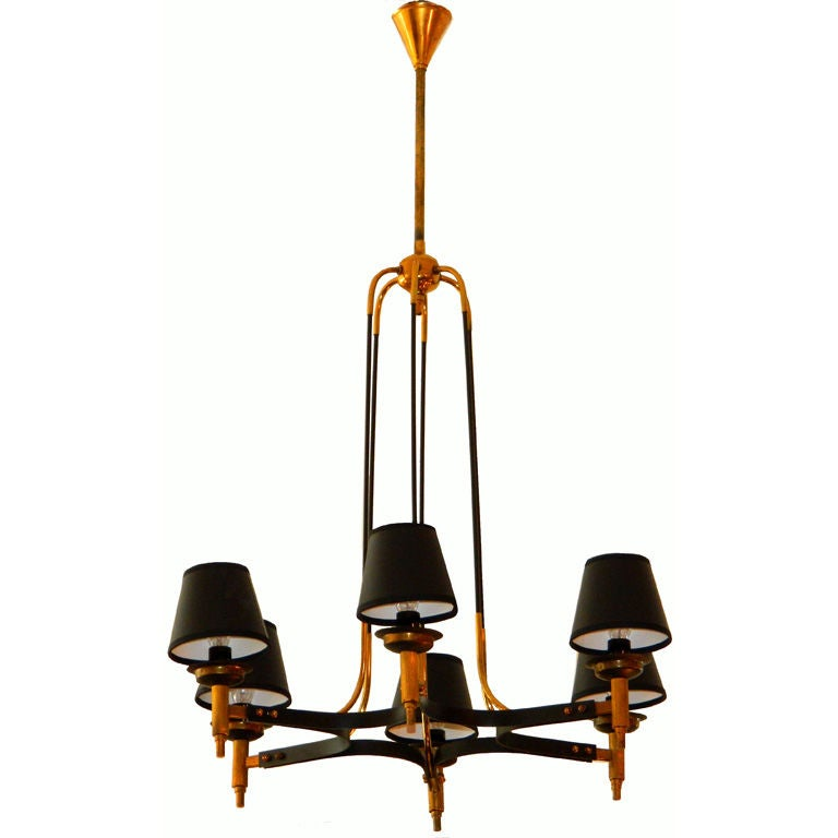 Maison Jansen Six-Light Chandelier For Sale