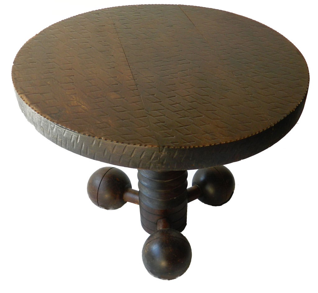 Round Coffee Table Pair: Pair Of Charles Dudouyt Coffee Tables At 1stdibs