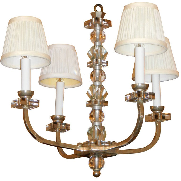 Jacques Adnet Style Chandelier, France