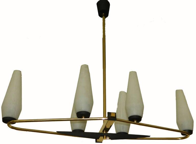 Mid-Century Modern Italian Chandelier by STILNOVO For Sale