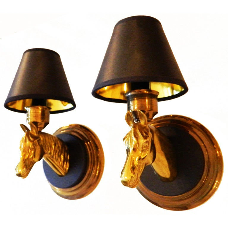 Wall Sconces In Bronze : Pair of Bronze Wall Sconces by Maison Lancel at 1stdibs