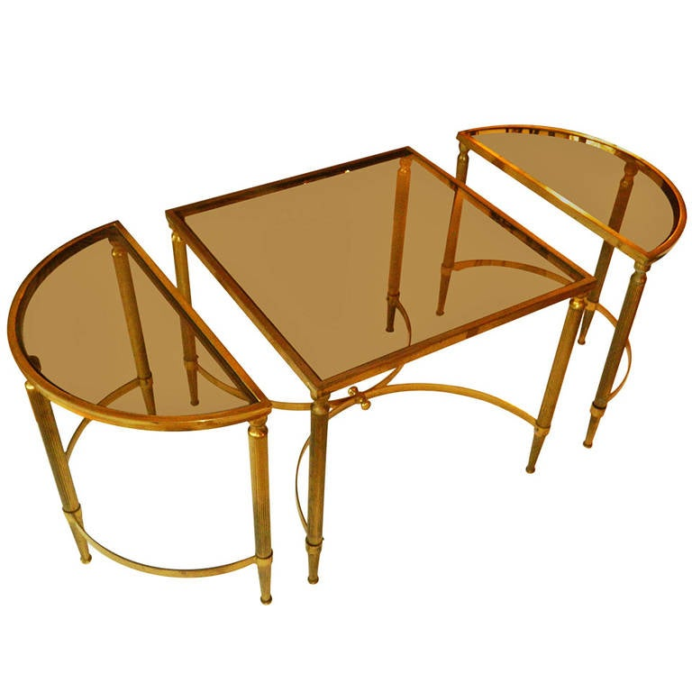 Maison lancel coffee table for sale at 1stdibs for Cocktail tables parts