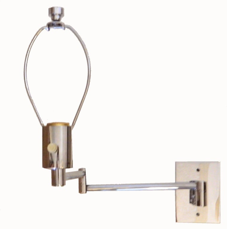 Pair Of Signed Hansen Retractable Wall Sconces At 1stdibs