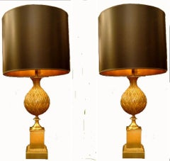 """Pair of Maison Charles Table Lamps """"Persane"""""""