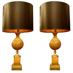 "Pair of Maison Charles Table Lamps ""Persane"""