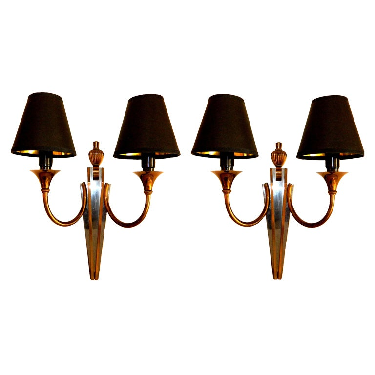 Pair of Maison Jansen Sconces, 2 Pairs Available  For Sale