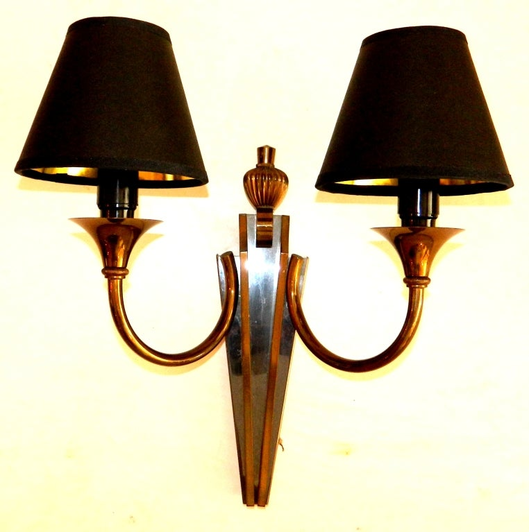 French Pair of Maison Jansen Sconces, 2 Pairs Available  For Sale