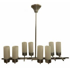 French Art Deco Adnet Chandelier At 1stdibs