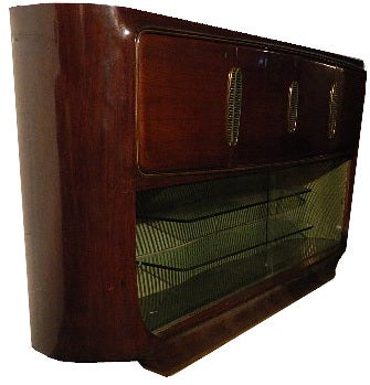 Italian Vittorio Dassi Bar Cabinet For Sale