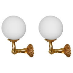 1960's  French Sconces , 4 Pair available