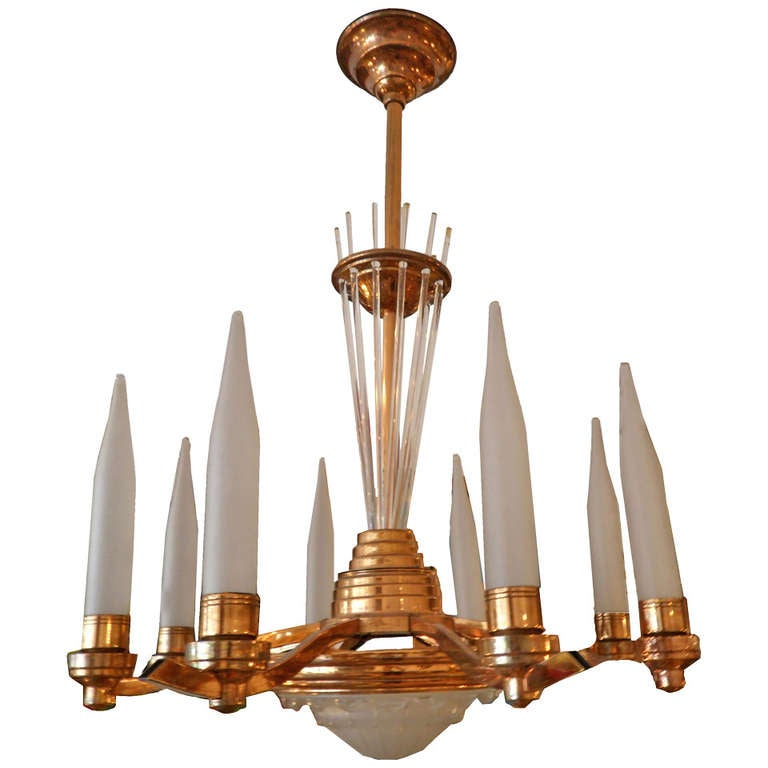 C.1940's Copper Chandelier For Sale
