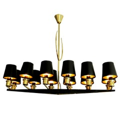 French Chandelier by Maison Arlus,, circa 1950s