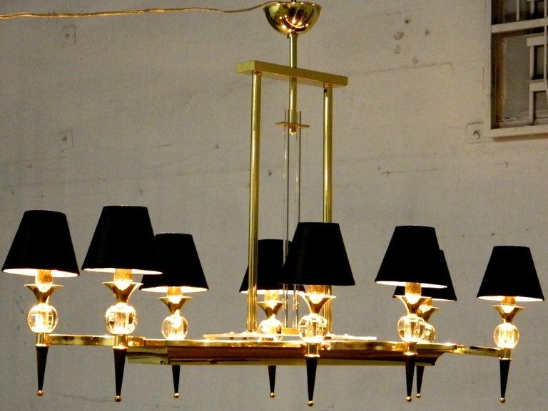 Brass Maison Jansen Chandelier For Sale