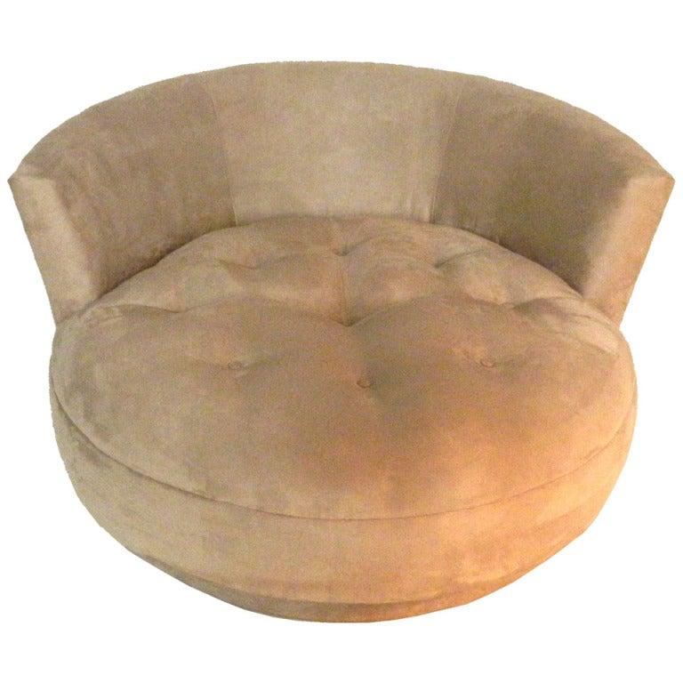 Huge Italian Round Lounge Chair at 1stdibs