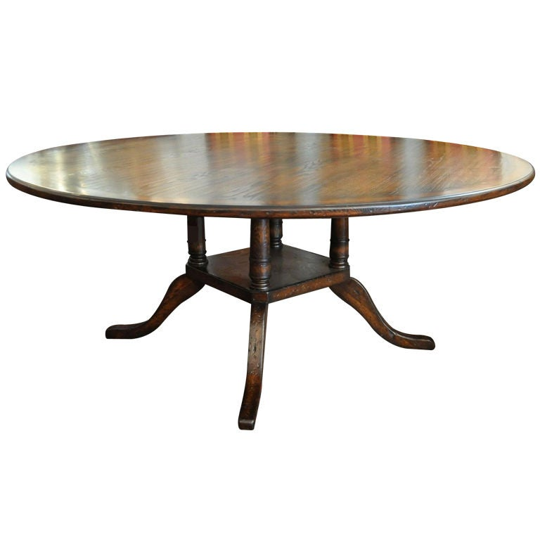 Round Dining Room Table Seats 12: Large Round Pedestal French Dining Table At 1stdibs