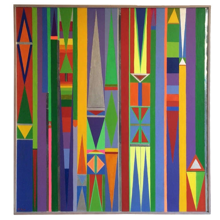 1960 S Geometric Hard Edge Painting At 1stdibs