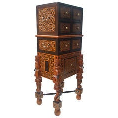 Indo-Portuguese Curiosity Cabinet Box on Stand