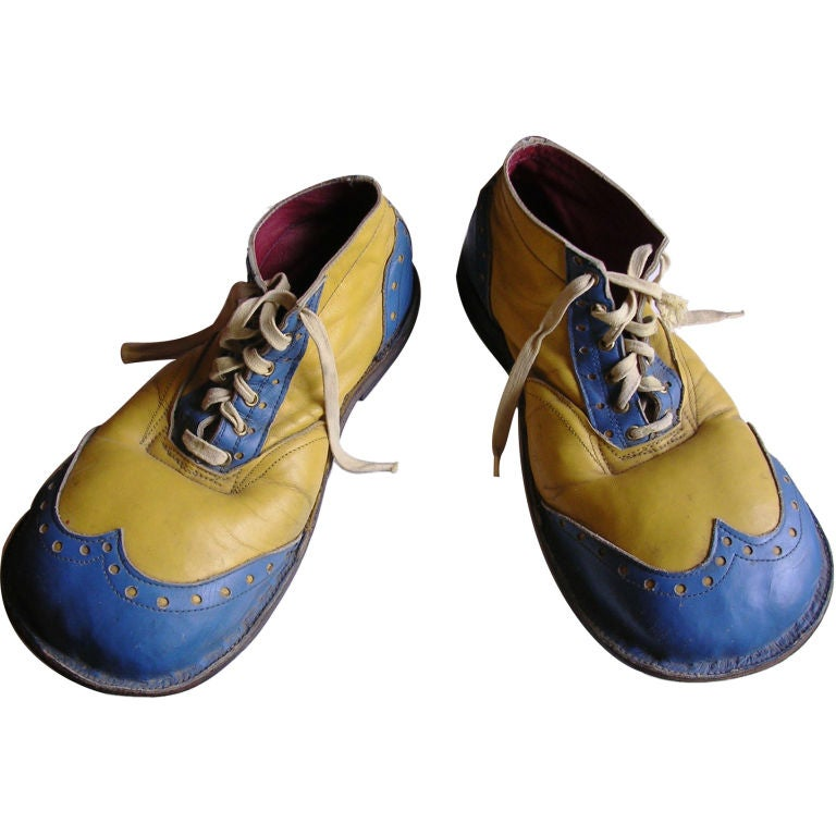 Vintage Circus Clown Shoes At 1stdibs
