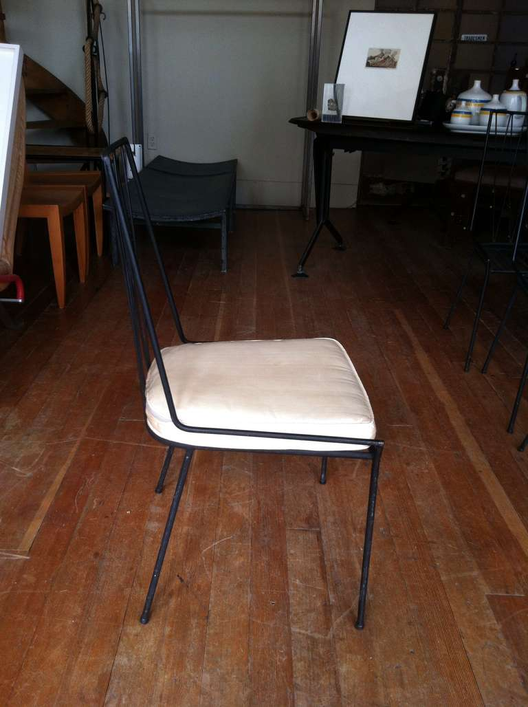Rare Original Set Of Paul Mccobb Iron Chairs At 1stdibs