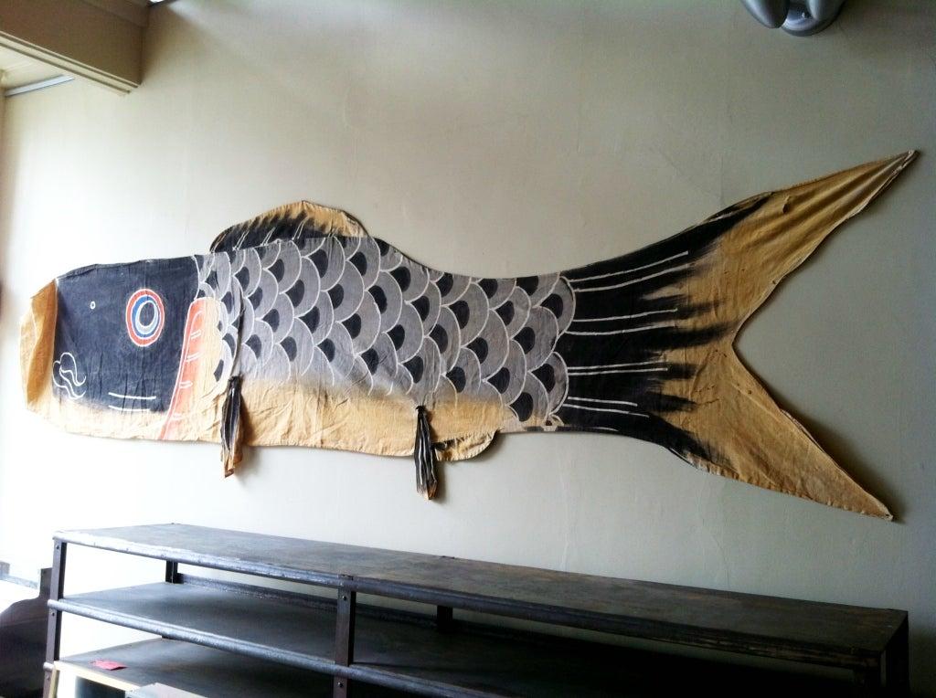 Japanese boy 39 s day carp windsock banner at 1stdibs for Japanese koi windsock