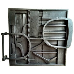 Wall Sculpture Assemblage of Wood after Louise Nevelson