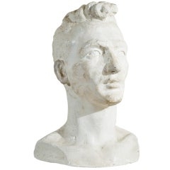 Plaster Bust of a Handsome Man