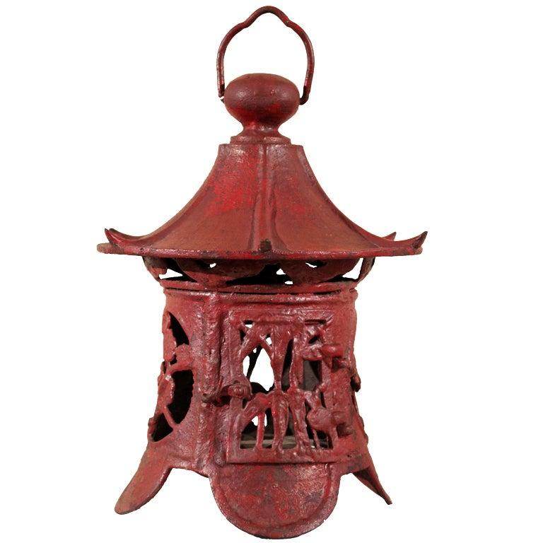 Japanese garden lantern at 1stdibs for Wooden garden lanterns