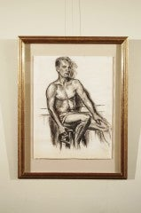 Charcoal Academic Study of  Male Nude image 2