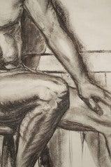 Charcoal Academic Study of  Male Nude image 5